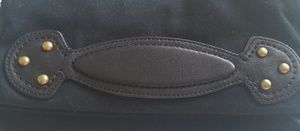 Gap Canvas Clutch with Faux Leather/Gold Detail
